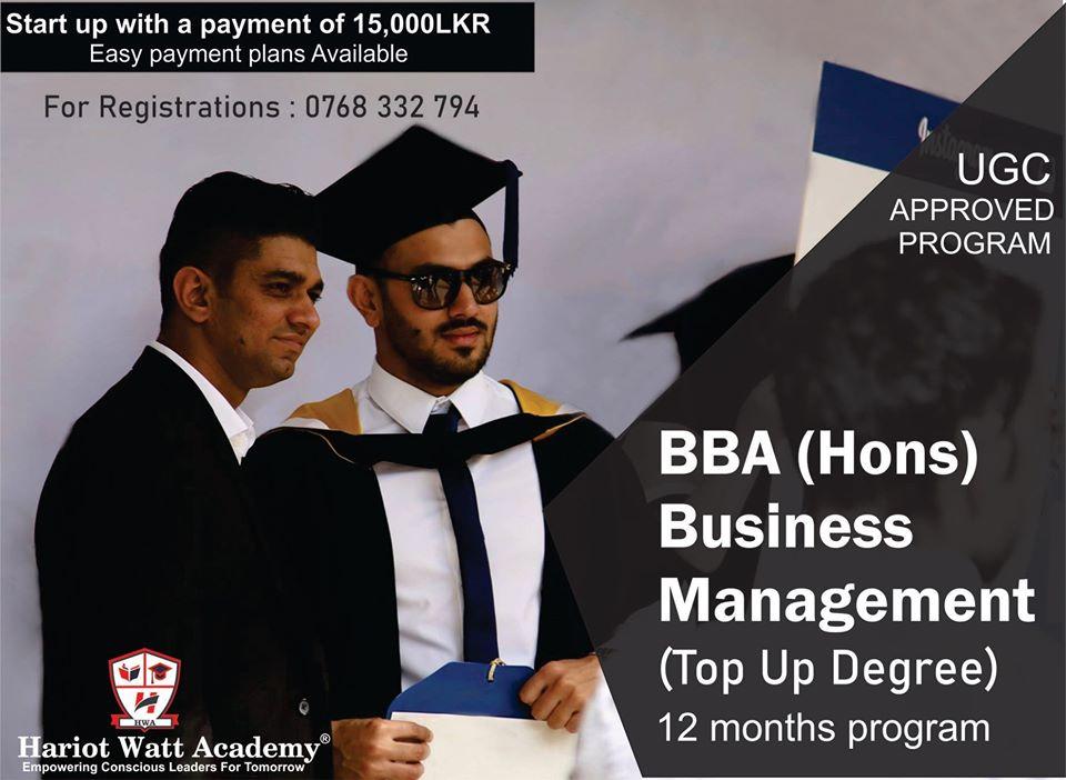 BBA (Hons) Business Management
