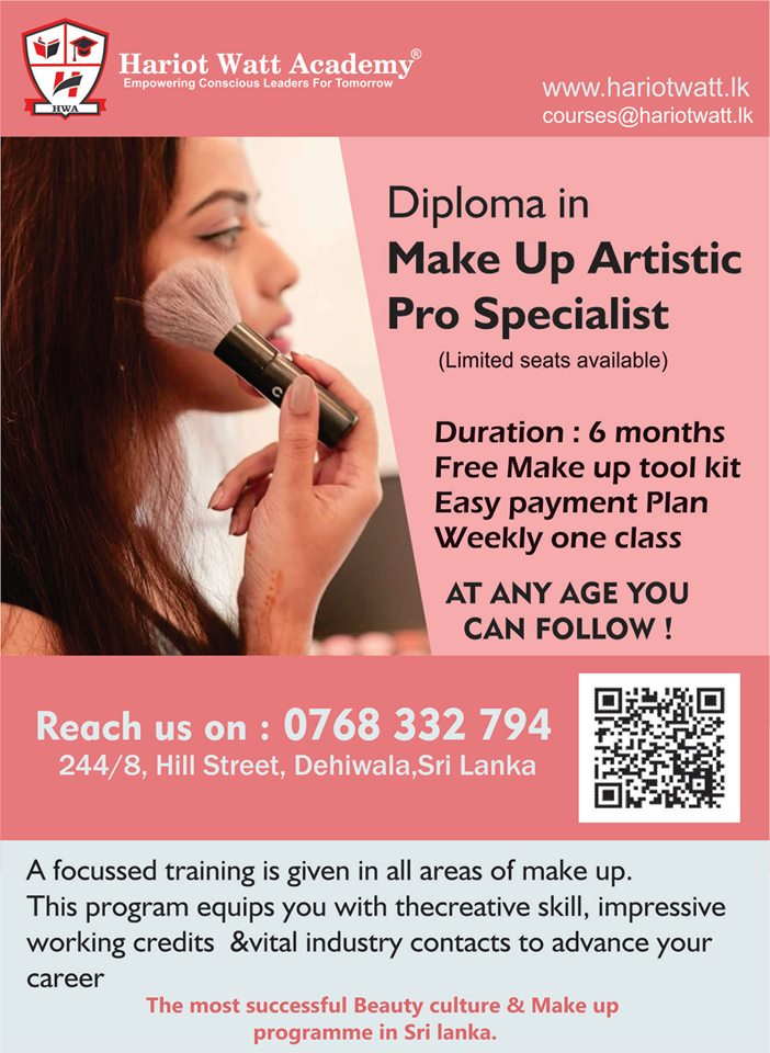 Diploma in Make Up Artistic Pro Specialist program (View More Details)